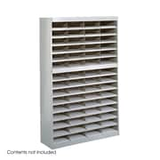Safco Products Steel Literature Organizer with 60 Letter-Size Compartments; Gray