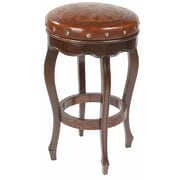 New World Trading Colonial 26'' Bar Stool with Cushion; Rustic