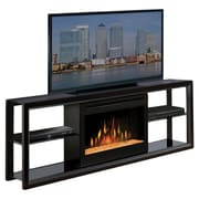 Hokku Designs Dimplex TV Stand with Electric Fireplace; Black