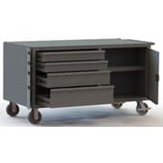 Durham Manufacturing Welded 14 Gauge Steel Mobile Bench Cabinet