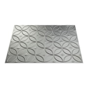 Fasade Rings 24.25'' x 18.25'' PVC Backsplash Panel in Argent Silver Kit