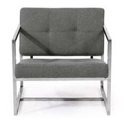 Kardiel Cube Modern 1950 Chair; Cadet Gray