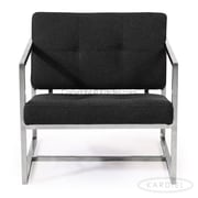 Kardiel Cube Modern 1950 Chair; Charcoal