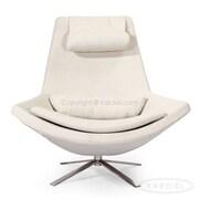 Kardiel Retropolitan Modern Wing Lounge Chair; Heather White
