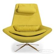 Kardiel Retropolitan Modern Wing Lounge Chair; Dijon