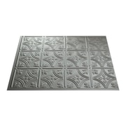 Fasade Traditional #1 24.25'' x 18.25'' PVC  Backsplash Panel in Argent Silver Kit