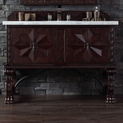 James Martin Furniture Balmoral 48'' Single Bathroom Vanity Set; Absolute Black Rustic Granite Top