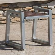 Elan Furniture Vero Side Table; Gloss Silver