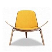 Kardiel Tripod Plywood Modern Lounge Chair; Citrine
