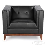 Kardiel Harrison Mid Century Modern Club Chair; Black