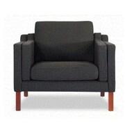 Kardiel Monroe Mid Century Modern Arm Chair; Chevron Flax