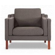 Kardiel Monroe Mid Century Modern Arm Chair; Chevron Gray