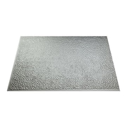 Fasade Hammered 24.25'' x 18.25'' PVC Backsplash Panel in Argent Silver Kit