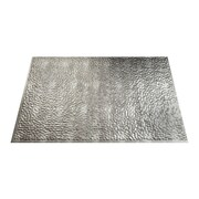 Fasade Hammered 24.25'' x 18.25'' PVC Crosshatch Backsplash Panel in Silver Kit