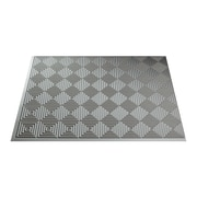Fasade Miniquattro 24.25'' x 18.25'' PVC Backsplash Panel in Argent Silver Kit