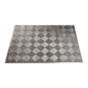 Fasade Miniquattro 24.25'' x 18.25'' PVC Backsplash Panel in Crosshatch Silver Kit
