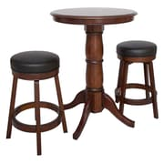 Hathaway Games Oxford 3 Piece Hardwood Pub Table Set