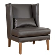 TOV Chelsea Wing Chair; Grey