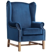 TOV Nora Velvet Arm Chair; Navy