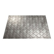 Fasade Quilted 24.25'' x 18.25'' PVC Backsplash Panel in Crosshatch Silver Kit