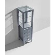 Virtu 16.3'' x 58.3'' Free Standing Cabinet; Grey