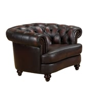 Amax Roosevelt Leather Chesterfield Chair