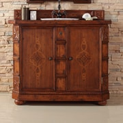 James Martin Furniture Charleston 42'' Single Bathroom Vanity with Wood Top
