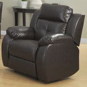 AC Pacific Troy Transitional Glider Reclining Arm Chair; Power