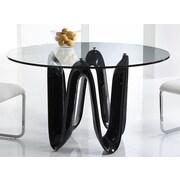 Bellini Modern Living Sapphire Dining Table; Black