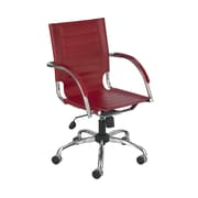 Safco Products Flaunt Series Mid-Back Executive Chair; Red