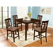 Roundhill Furniture Inworld 5 Piece Counter Height Dining Set