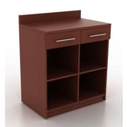 HPL Contract Modern Breakroom Storage Cabinet; Crown Cherry