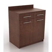 HPL Contract Modern Breakroom 2 Door Storage Cabinet; Kona Walnut