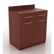 HPL Contract Modern Breakroom 2 Door Storage Cabinet; Crown Cherry