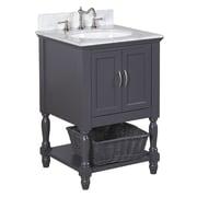 KBC Beverly 24'' Single Bathroom Vanity Set; Charcoal Gray