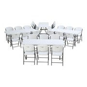 Lifetime 28 Piece Armeless Stacking Chair and Table Set