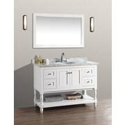 Ari Kitchen & Bath Cape Cod 48'' Single Bathroom Vanity Set with Mirror