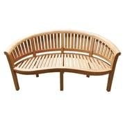 D-Art Collection Island Teak Wood Garden Bench; 62''