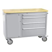 ThorKitchen 37.5'' Wide 4 Drawer Stainless Steel Anti-Fingerprint Tool Chest with Work Station