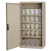 Akro Mils 1 Door Storage Cabinet; Putty/Clear