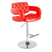 VIG Furniture Modrest Adjustable Height Swivel Bar Stool with Cushion