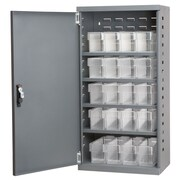 Akro Mils 1 Door Storage Cabinet; Gray/Clear