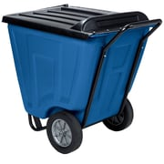 Akro Mils 60-Gal Trash Bin with Lid; Blue