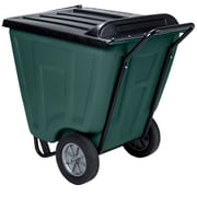 Akro Mils 60-Gal Trash Bin with Lid; Gray