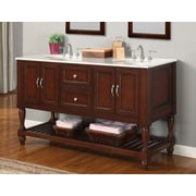 Direct Vanity Sink Mission Turnleg Spa 60'' Double Bathroom Vanity Set; Espresso