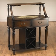 AA Importing Back Bar with Wine Storage; Dark Brown