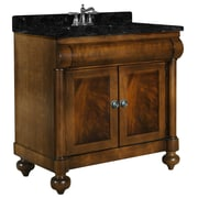 Kaco John Adams 36'' Single Bathroom Vanity Set; Tan Brown Granite