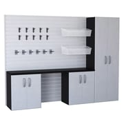 Flow Wall 6' H x 8' W x 1.4' D 23-Piece Wall Storage and Cabinet Set