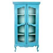Jeffan Cabriole Legs Display Cabinet; Blue