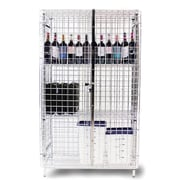 Thunder Group Inc. Security Cage 3 Tier 1 Wide Shelf Locker; 63.39'' H x 37.8'' W x 19.29'' D